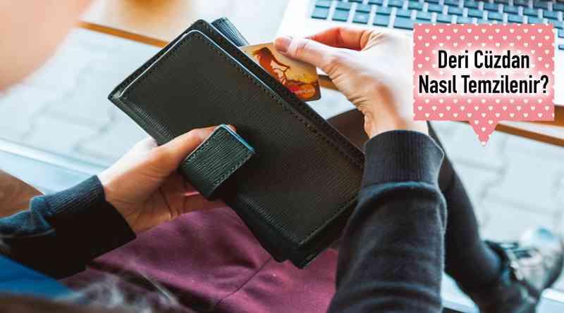 Deri cüzdan temizligi
