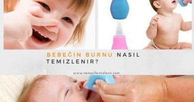 Bebeğin burnu nasıl temizlenir