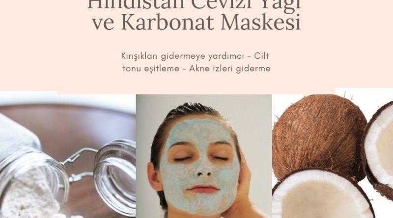Hindistan cevizi yağı ve Karbonat Maskesi