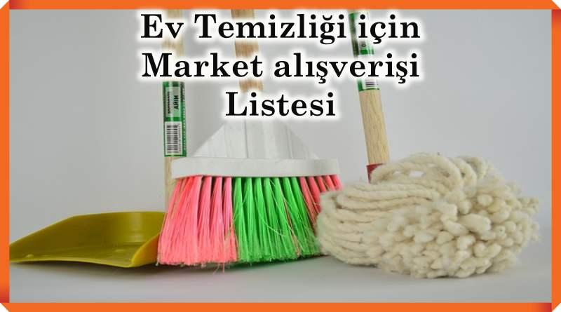 market temizlik listesi
